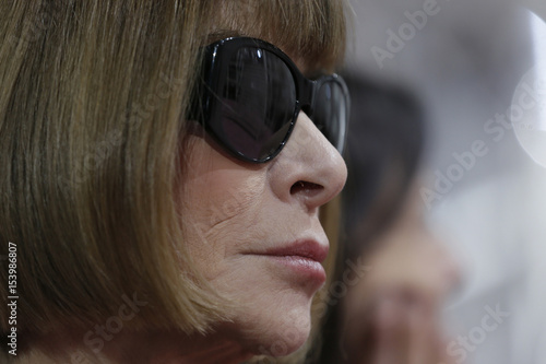 421d77037216 U.S. Vogue editor Anna Wintour attends Belgian designer Raf Simons Haute  Couture Spring Summer 2015 fashion show for French fashion house Christian  Dior in ...