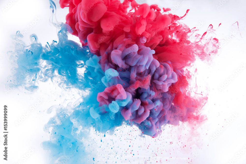 Fototapety, obrazy: colorful ink in water.