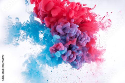 Fototapeta colorful ink in water. obraz
