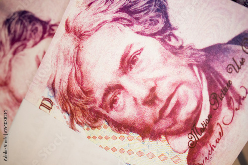Poster  British Banknotes 20 Pound Sterling Michael Faraday