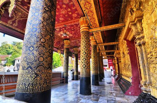 Carta da parati  Buddhist  temple Wat Souvannapoumaran in Luang Prabang in Laos.