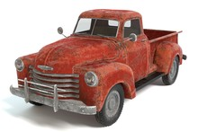 3d Illustration Of An Old Rust...