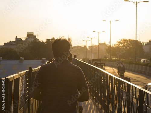 Printed kitchen splashbacks Delhi in golden sunlight