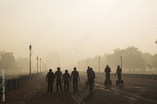 Fotobehang Delhi go morning exercise