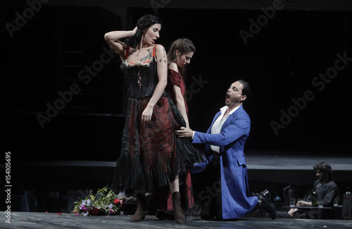Singers Prudnikovaite Reiss And Demuro Perform During A Dress