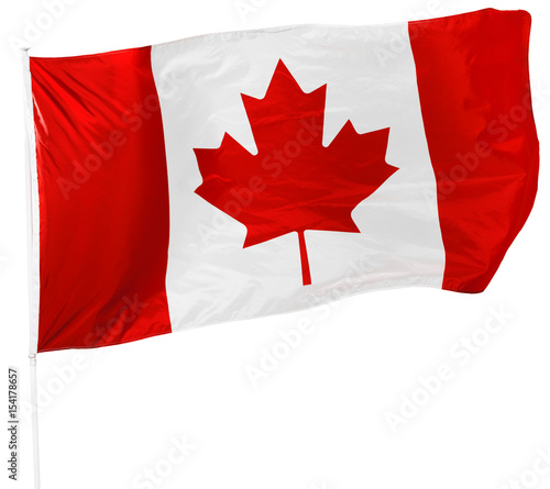 Spoed Foto op Canvas Canada Canadian Flag isolated on white