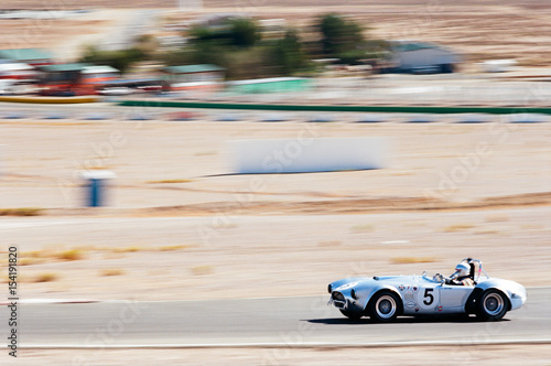 Shelby Cobra at speed Canvas Print