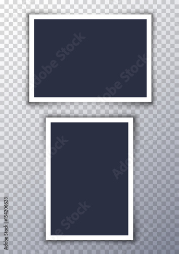 Vector photo frame picture background. Border photography album design. Image element empty retro frame Wall mural