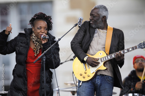 Musicians Jacob Desvarieux And Singer Marie Josee Gibbon From