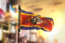 Swaziland Flag Against City Bl...