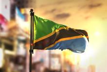 Tanzania Flag Against City Blu...