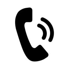 Telephone Receiver Icon Vector...