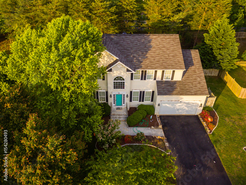 Fotografie, Obraz  Aerial View of a House