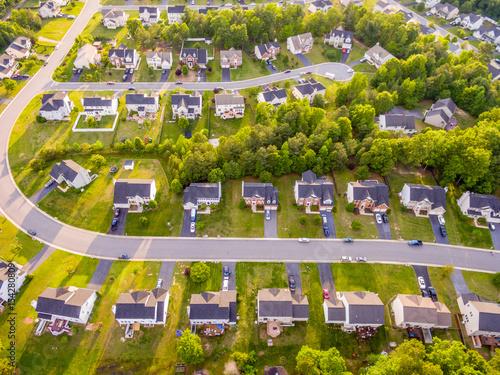 Plakat Widok z lotu ptaka Cookie Cutter Neighbourhood