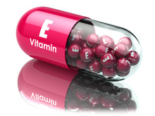Vitamin E Capsule Or Pill. Die...