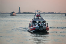 Fire Department Of New York FDNY Rescue Boat On East River