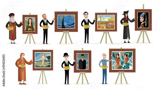 Fotomural great seven painters of history