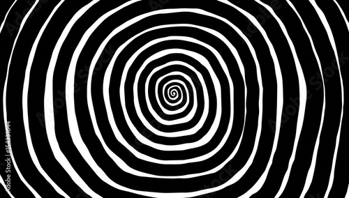 Photo sur Toile Spirale Illustration spiral, background. Hypnotic, dynamic vortex.