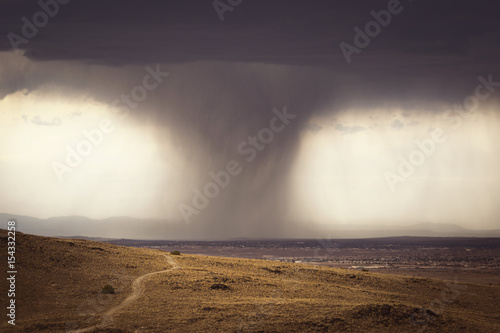 Dark Storm Moving Across the Outskirts of Albuquerque, NM Canvas Print