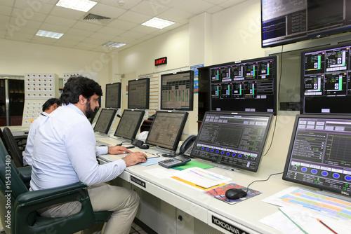 Employees work at Maaden Aluminium in Ras Al Khair, Saudi
