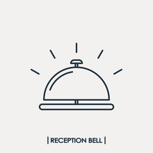 Reception Bell Outline Icon