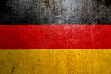Flag Of Germany, With An Old Metal Texture