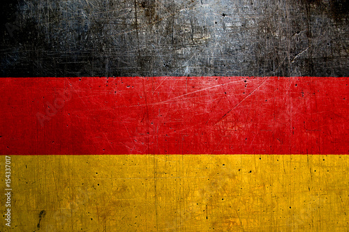Flag of Germany, with an old metal texture Wallpaper Mural