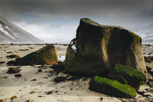 Giant Boulders On Alaska Beach...