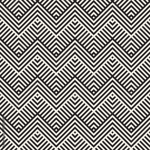 In de dag Boho Stijl Abstract ZigZag Parallel Stripes. Stylish Ethnic Ornament. Vector Seamless Pattern.
