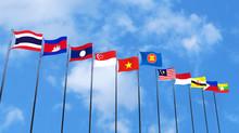 3D Rendering Of Asean Country'...
