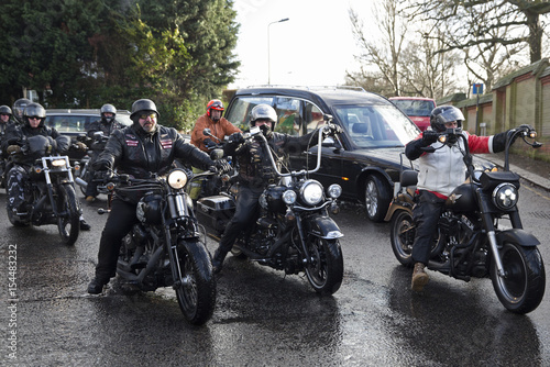 Members of the Hell's Angels motorcycle club arrive for the