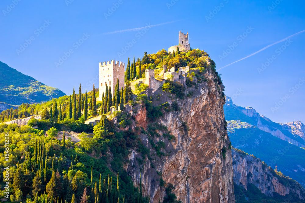 Fototapety, obrazy: Arco castle on high rock view