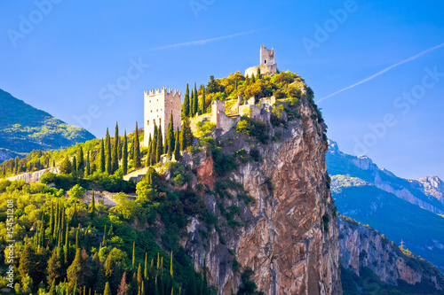Arco castle on high rock view