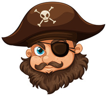 Pirate Wearing Hat And Eyepatch