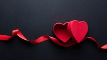 Heart Shaped Box And Ribbon