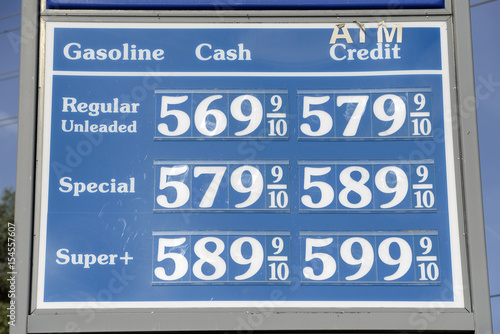 Gas Prices In California >> Fuel Prices Are Displayed At A Gas Station In Calabasas California