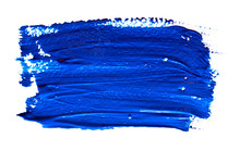 Blue Strokes Of The Paint Brus...