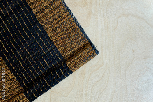 Fototapeta Background of bamboo mat plate, Colorful pattern, Bamboo texture, Blank space of bamboo mat, Japanese bamboo mat obraz na płótnie