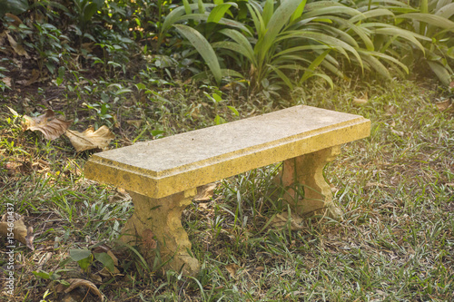 Super One Stone Bench On Lawn In Park The Seat In The Garden Bralicious Painted Fabric Chair Ideas Braliciousco