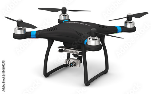 Obraz Quadcopter drone with 4K video and photo camera - fototapety do salonu