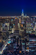 Night skyline of New York
