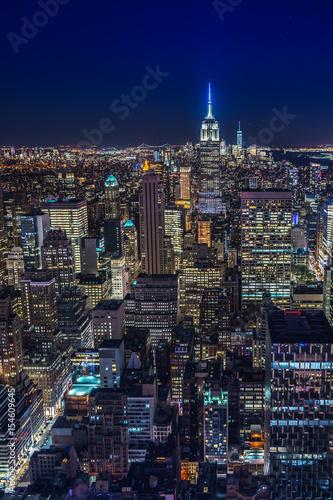 Fotografie, Obraz  Night skyline of New York