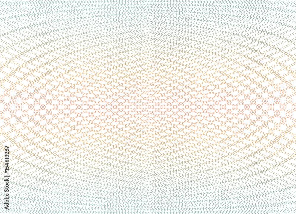 Fototapety, obrazy: Guilloche background texture - gradient zig zag. For certificate, voucher, banknote, voucher, money design, currency Vector illustration