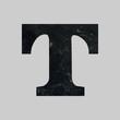 Alphabet marble font t