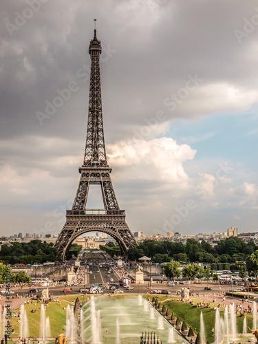 Fototapety, obrazy: Landscape of Eiffel Tower in Paris, France