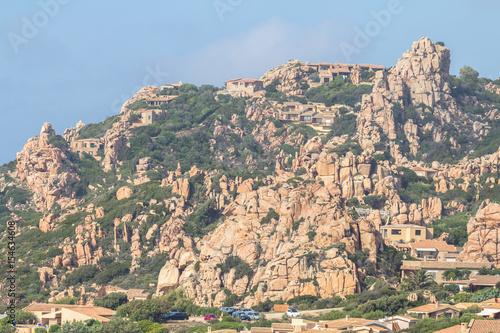 In de dag Khaki Costa Paradiso landscape on Sardinia, Italy