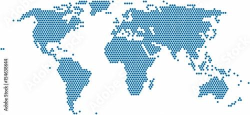 Hexagon shape world map on white background vector illustration hexagon shape world map on white background vector illustration gumiabroncs Gallery