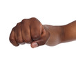 Hand gesture, man clenched fist, ready to punch