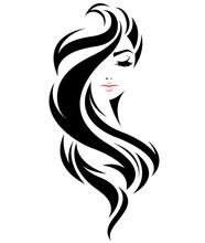 Women Long Hair Style Icon, Lo...