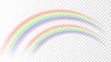 Rainbow Icon. Shape Arch Reali...